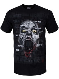 The Walking Dead Scattered Zombie Black Men's T-shirt: Small (Mens 36 - 38) Clothing