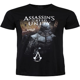 Assassin's Creed Unity Hidden Arno Streets Of Paris Black Men's T-shirt: Large (Mens 40- 42) Clothing