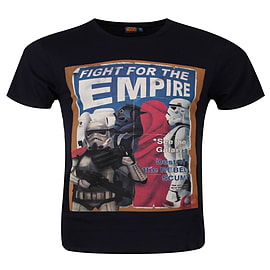 Star Wars Fight For The Empire Navy Black Men's T-shirt: Small (Mens 36 - 38) Clothing