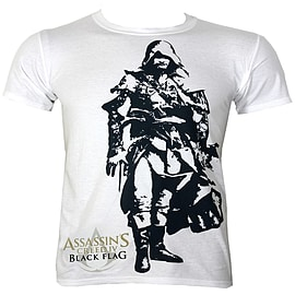 Assassins Creed Black Flag Edward White Men's T-shirt: Medium (Mens 38 - 40) Clothing
