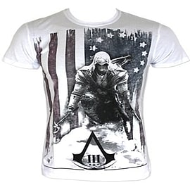 Assassin's Creed III White Men's T-shirt: Extra Large (Mens 42- 44) Clothing