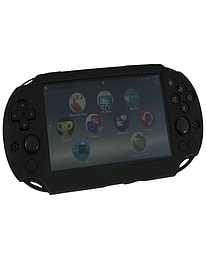 ZedLabz SC-1 soft silicone skin protector gel cover bumper case for Sony PS Vita 2000 Slim - black PS Vita