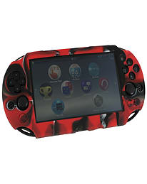 ZedLabz SC-1 soft silicone skin protector gel cover bumper case for Sony PS Vita 2000 Slim - camo re PS Vita