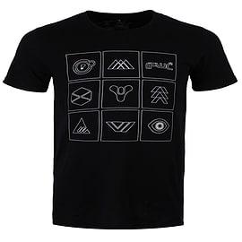 Destiny Ingame Symbols And Icons Black Men's T-shirt: Small (Mens 36 - 38) Clothing