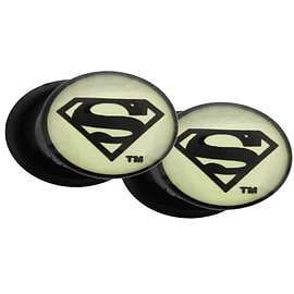 DC Comics Superman Glow In The Dark Screw Fit Plugs: 10mm Gifts