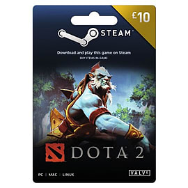 DOTA 2 Steam Wallet Top-up £10 Top ups