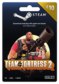 Team Fortress 2 Steam Wallet Top-up £10 Top ups