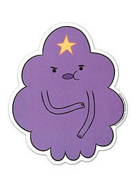Adventure Time Lumpy Space Princess Sticker 8.1x9.7cm Posters