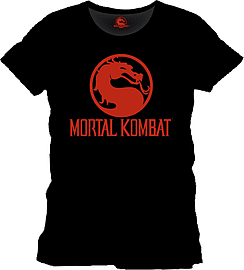 Mortal Kombat Logo T-Shirt - Black - Large Clothing