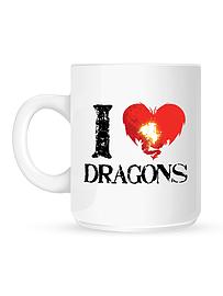 I Love Dragons White Mug Home - Tableware