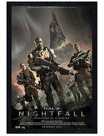 Halo Black Wooden Framed Nightfall Maxi Poster 61x91.5cm Posters