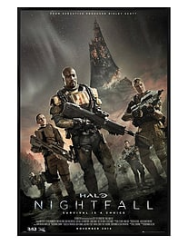 Halo Gloss Black Framed Nightfall Maxi Poster 61x91.5cm Posters