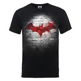 Batman Wall Logo T-Shirt (Black) Small - Only at GAME Clothing