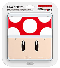 New 3DS Cover Plate - Red Toad 3DS