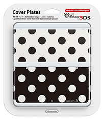 New 3DS Cover Plate - Black & White Dot 3DS