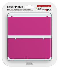 New 3DS Cover Plate - Pink 3DS