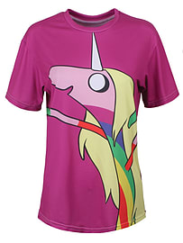 Mr Gugu & Miss Go Adventure Time Lady Rainicorn Purple Womens T-shirt Skinny Fit Extra Large (14-16) Clothing