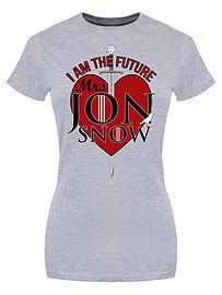 I Am The Future Mrs Jon Snow Grey Women's T-shirt: Skinny Fit Medium (UK 10 - 12) Clothing
