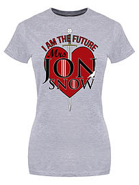 I Am The Future Mrs Jon Snow Grey Women's T-shirt: Skinny Fit Large (UK 12 - 14) Clothing