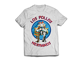 Breaking Bad Los Pollos Mens T-Shirt - White (XL) Clothing