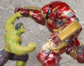 Avengers: Age of Ultron - Hulk and Hulkbuster Iron Man Artfx+ Statue Figurines and Sets