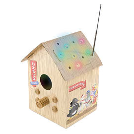 Club Birdbox FM Radio and MP3 Player with Flashing Lights Audio