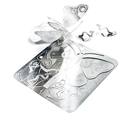Butterfly X-Bugs Origami Stainless Steel Kit Scaled Models