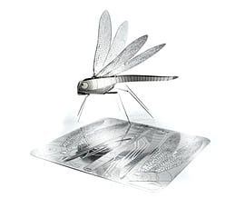 Dragonfly X-Bugs Origami Stainless Steel Kit Scaled Models