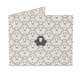 Black Sheep by Davies Babies Mighty Wallet by Dynomighty Clothing