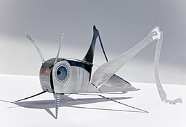 Grasshopper XL Bug Origami Stainless Steel Construction Kit Scaled Models