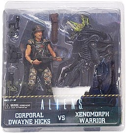 NECA Aliens Action Figures Hicks vs Battle Damaged Blue Warrior (Pack of 2) Figurines and Sets