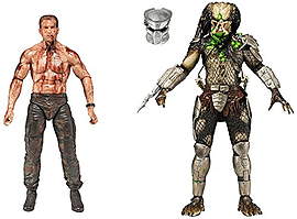 NECA 7-in Action Figure Predator vs Dutch (Pack of 2) Figurines and Sets