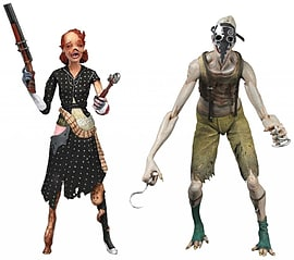 NECA Bioshock Splicer (Pack of 2) Figurines and Sets