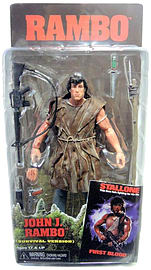 NECA 7-inch Deluxe Action Figure Survival Rambo First Blood Figurines and Sets