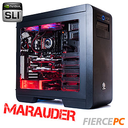 MARAUDER Quadcore Desktop Gaming PC, Intel Core i7 4790K 4.5GHz, Nvidia GTX 970 SLI, 16GB, 240GB SSD PC