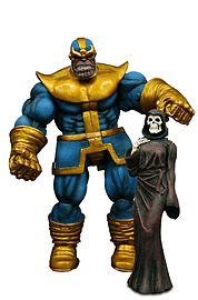Marvel Select Thanos Action Figure With Detailed Base Figurines and Sets