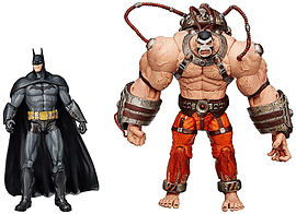 DC Comics Arkham City Batman vs Bane Action Figure (Pack of 2) Figurines and Sets