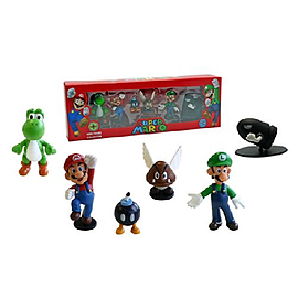 Super Mario Series 1 Mini Figure Collection Nintendo 6 Pack Figurines and Sets