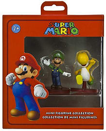 Luigi (~2) & Yellow Yoshi (~1.8): Super Mario Dual Mini-Figurine Collection Series Figurines and Sets