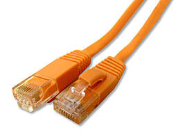 0.5m Cat 6 Patch Lead Orange PC