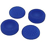 Assecure concave & convex soft silicone thumb grips for Sony PS4, pack of 4 - Blue screen shot 2