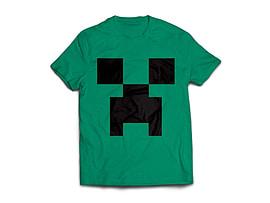 Minecraft Creeper Mens T-Shirt Green (Large) Clothing
