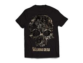 The Walking Dead Skull Men's T-Shirt - Black (Large) Clothing