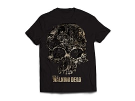 The Walking Dead Skull Men's T-Shirt - Black (Medium) Clothing