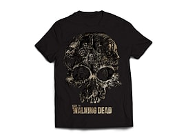 The Walking Dead Skull Men's T-Shirt - Black (XL) Clothing