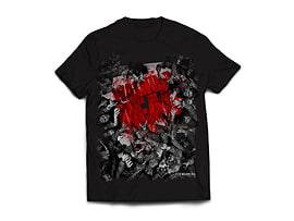 The Walking Dead Walker Horde And Logo Men's T-Shirt - Black (Large) Clothing