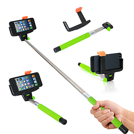 Frostycow Universal Bluetooth Selfie Monopod Camera Extension Arm For Mobile iPhone Samsung Green Mobile phones
