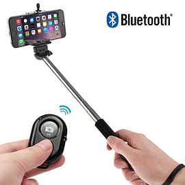 Frostycow Bluetooth Monopod Telescopic Selfie Stick & Remote Kit for Mobile Phones iPhone Android Mobile phones