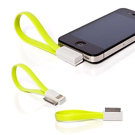 Frostycow Flat Magnetic Charging USB Cable For iPhone 3/4/S/iPod Green Mobile phones