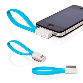 Frostycow Flat Magnetic Charging USB Cable For iPhone 3/4/S/iPod Blue Mobile phones